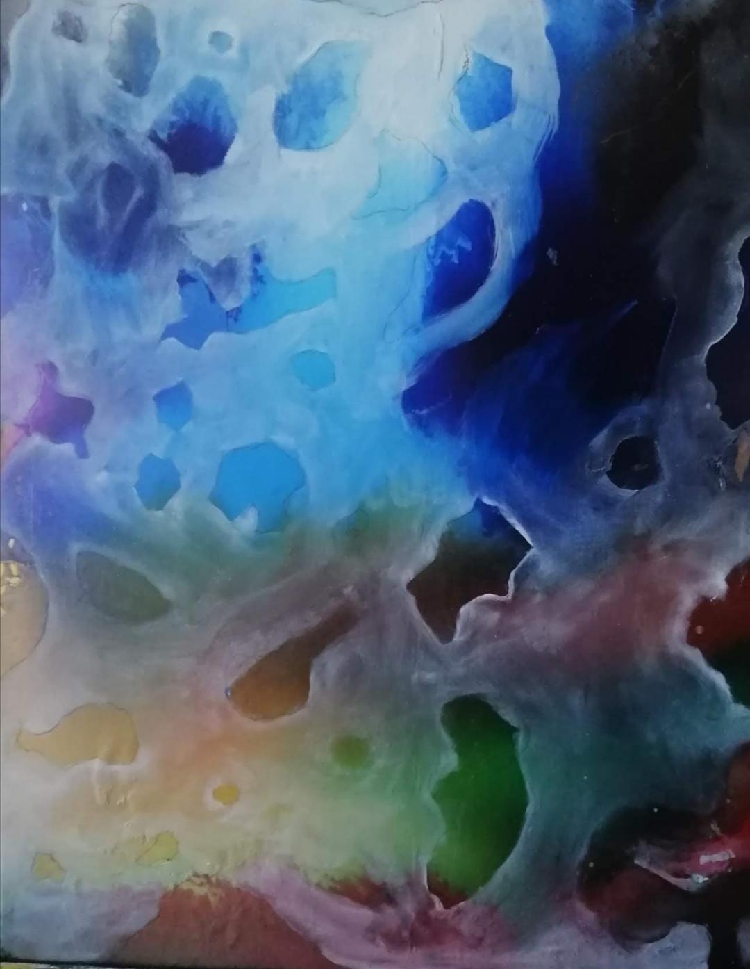 Covid Blues, oil ón canvas, 50 x 40 cm